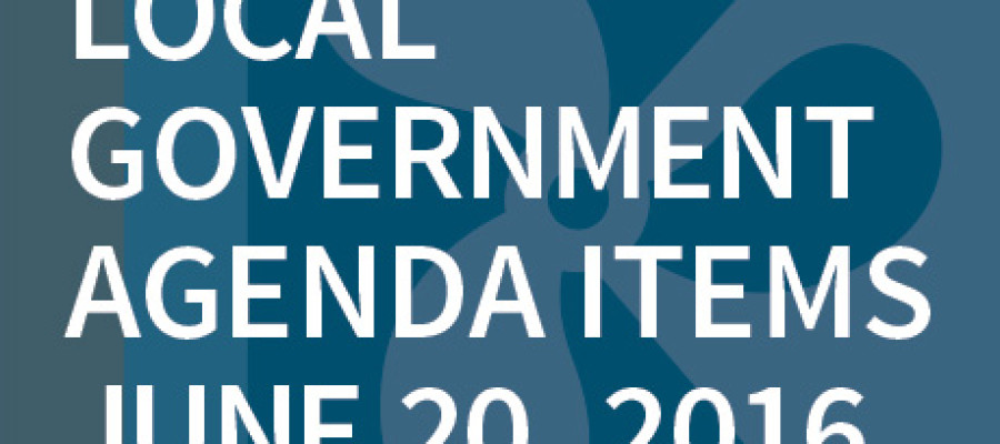 SWFMIA local government agenda items for the week of June 20, 2016