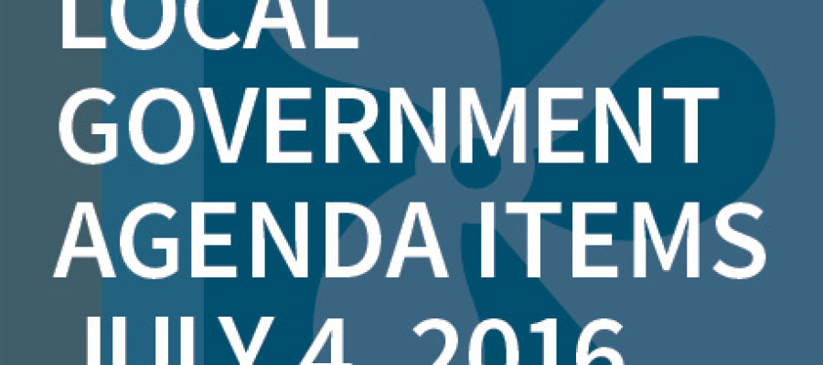 SWFMIA local government agenda items for the week of July 4, 2016