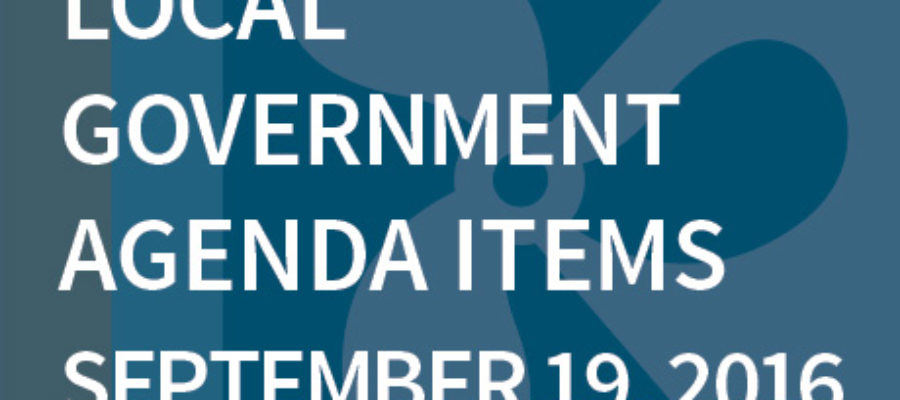 SWFMIA local government agenda items for the week of September 19, 2016