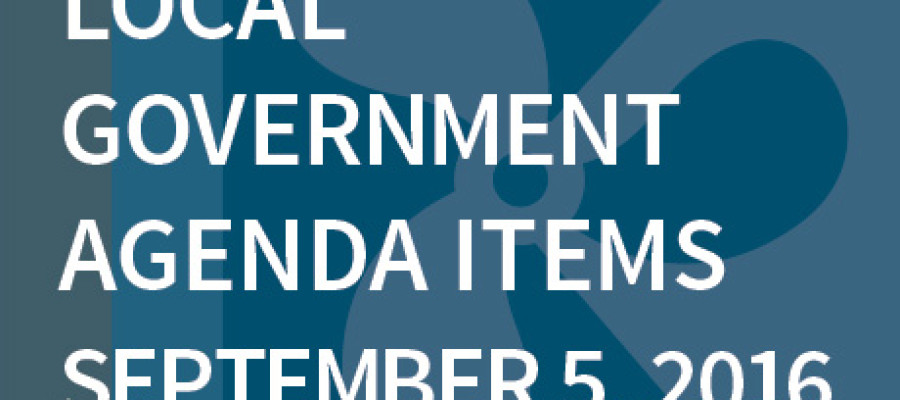 SWFMIA local government agenda items for the week of September 5, 2016