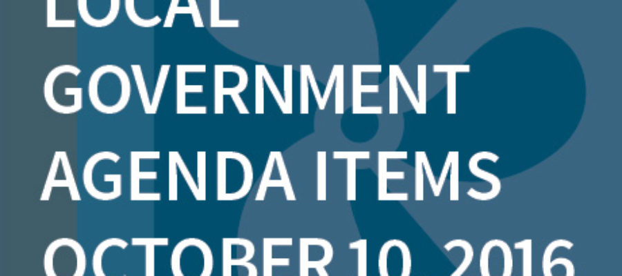 SWFMIA local government agenda items for the week of October 10, 2016