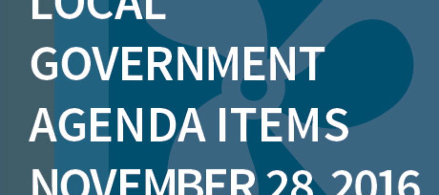 SWFMIA local government agenda items for the week of November 28, 2016