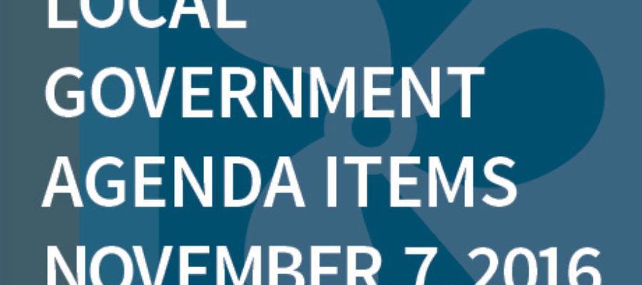 SWFMIA local government agenda items for the week of November 7, 2016