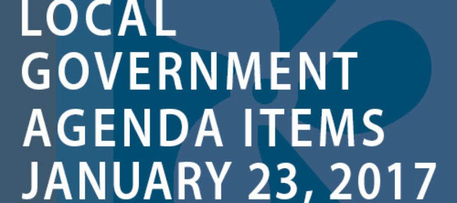SWFMIA local government agenda items for the week of January 23, 2017