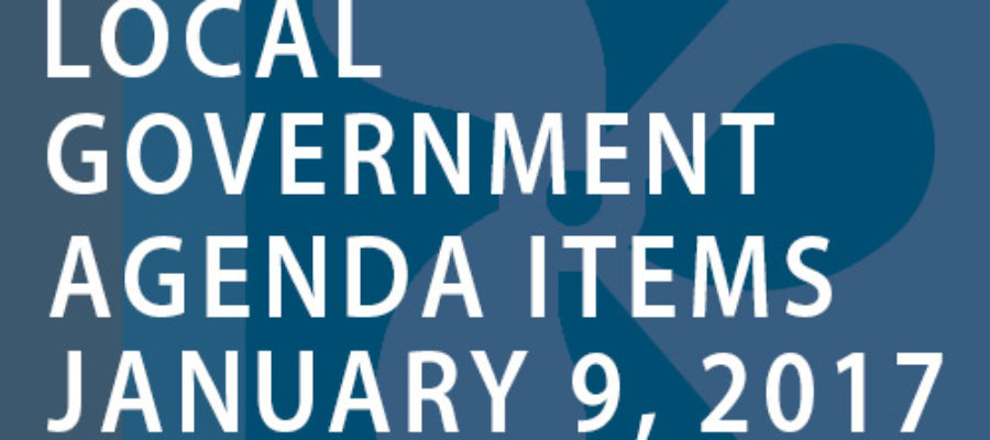 SWFMIA local government agenda items for the week of January 9, 2017