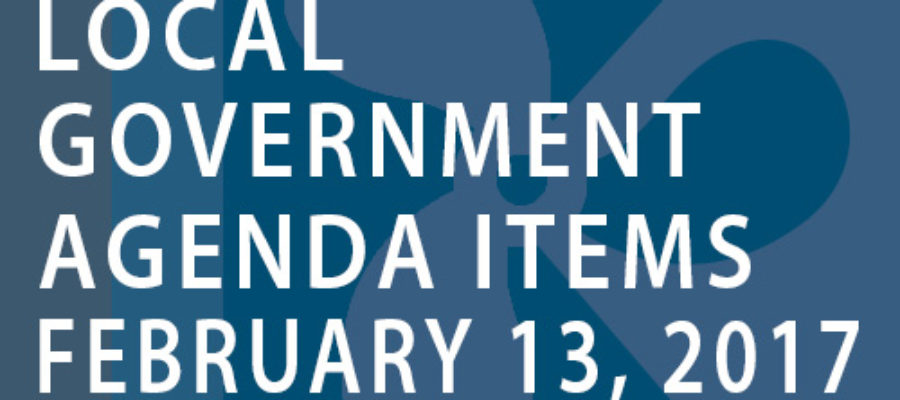 SWFMIA local government agenda items for the week of February 13, 2017