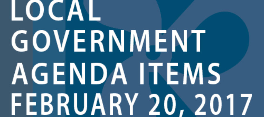 SWFMIA local government agenda items for the week of February 20, 2017
