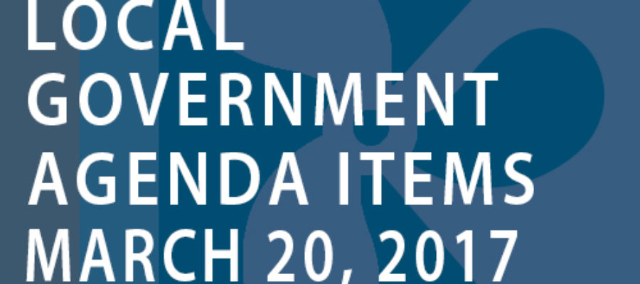 SWFMIA local government agenda items for the week of March 20,2017