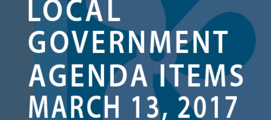 SWFMIA local government agenda items for the week of March 13, 2017