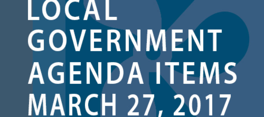 SWFMIA local government agenda items for the week of March 27, 2017