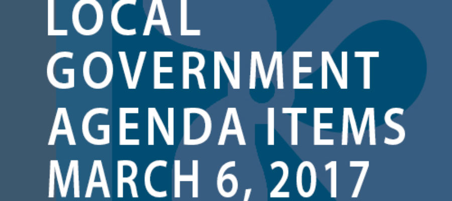 SWFMIA local government agenda items for the week of March 6, 2017