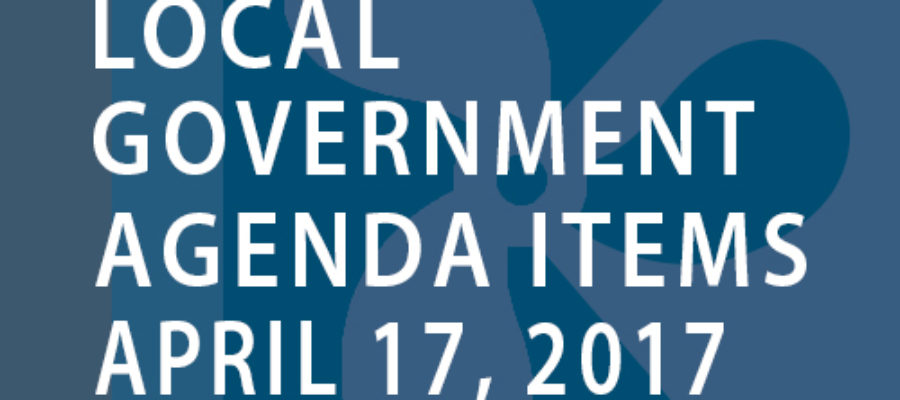 SWFMIA local government agenda items for the week of April 17, 2017