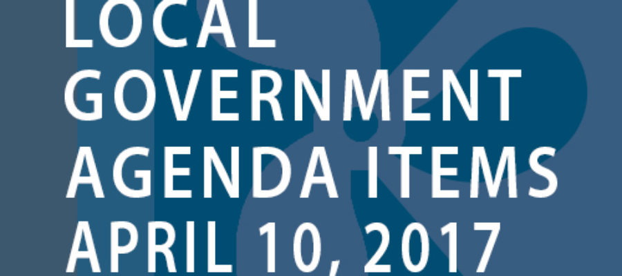 SWFMIA local government agenda items for the week of April 10, 2017