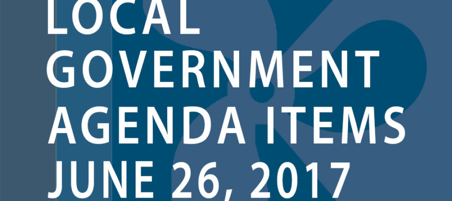 SWFMIA local government agenda items for the week of June 26, 2017