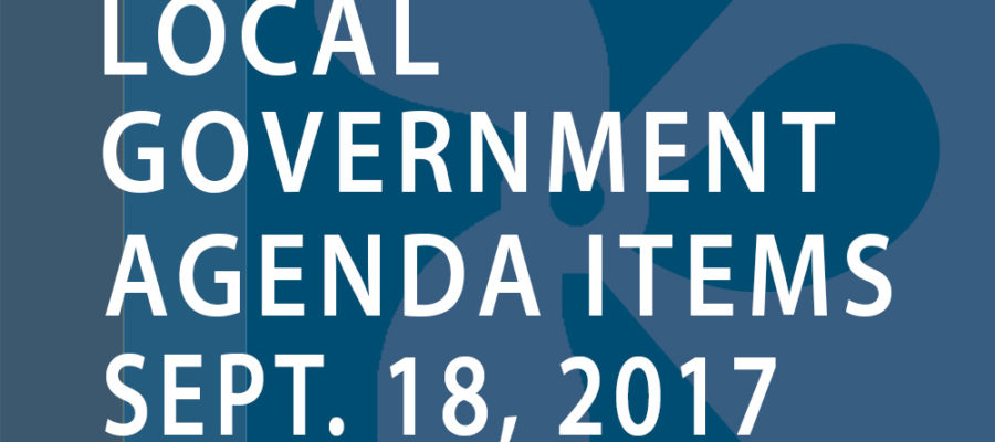 SWFMIA local government agenda items for the week of September 18, 2017