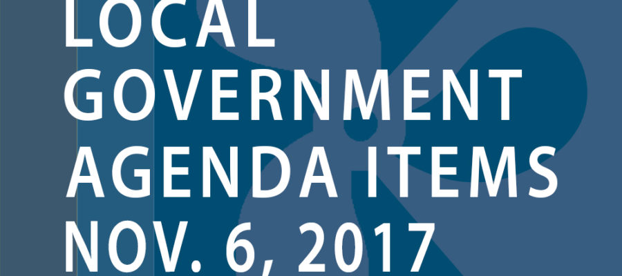 SWFMIA local government agenda items for the week of November 6, 2017
