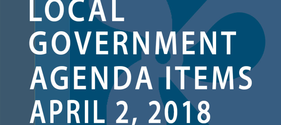SWFMIA local government agenda items for the week of April 2, 2018