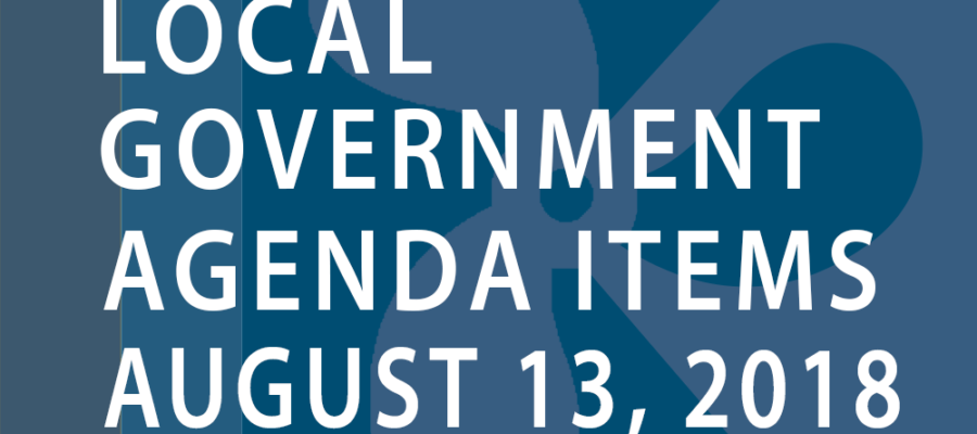 SWFMIA local government agenda items for the week of August 13, 2018