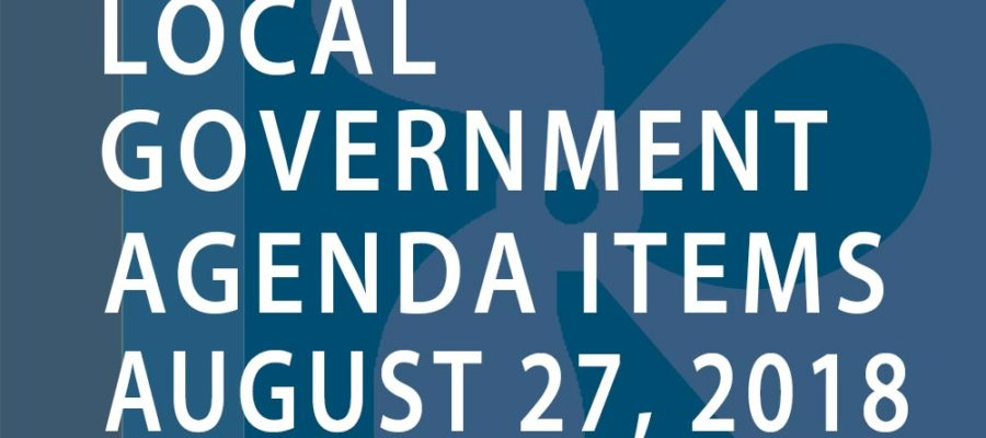 SWFMIA local government agenda items for the week of August 27, 2018