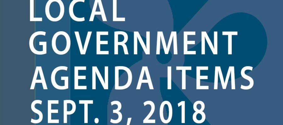 SWFMIA local government agenda items for the week of September 3, 2018