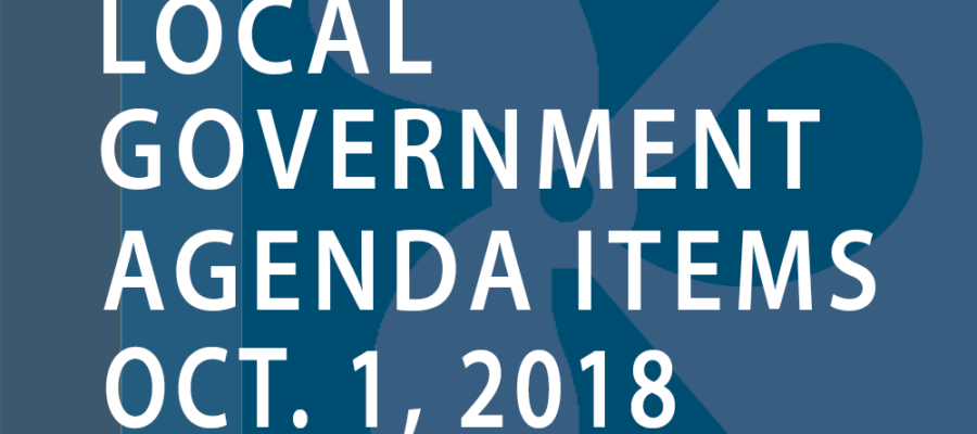SWFMIA local government agenda items for the week of October 1, 2018