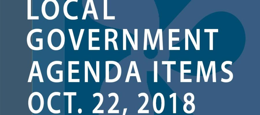 SWFMIA local government agenda items for the week of October 22, 2018