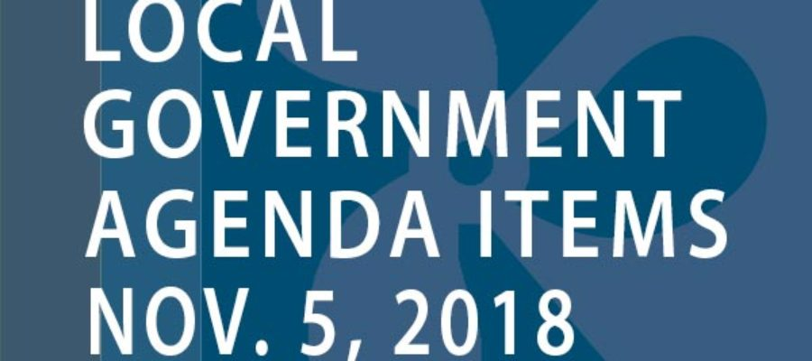 SWFMIA local government agenda items for the week of November 5, 2018