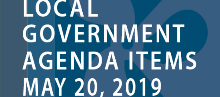 SWFMIA local government agenda items for the week of May 20, 2019