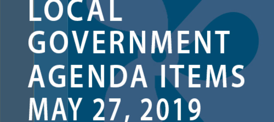 SWFMIA local government agenda items for the week of May 27, 2019