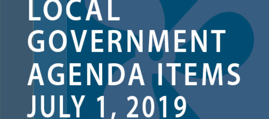 SWFMIA local government agenda items for the week of July 1, 2019