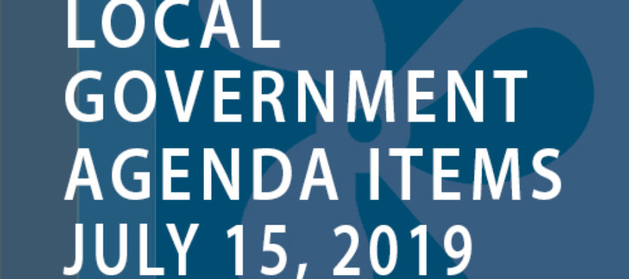 SWFMIA local government agenda items for the week of July 15, 2019