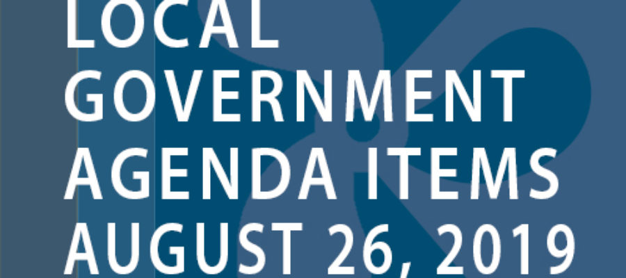 SWFMIA local government agenda items for the week of August 26, 2019