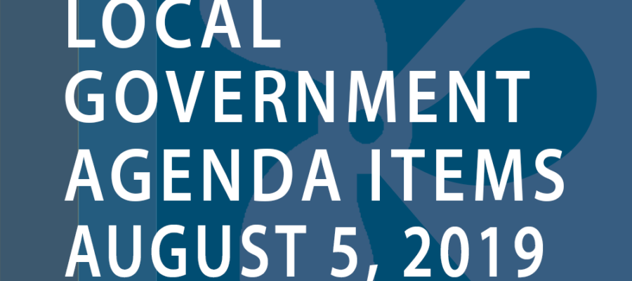 SWFMIA local government agenda items for the week of August 5, 2019