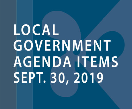 SWFMIA local government agenda items for the week of September 30, 2019