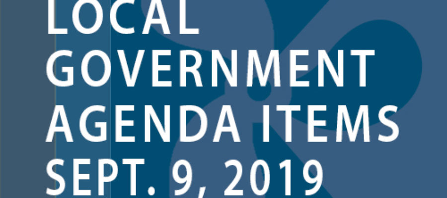 SWFMIA local government agenda items for the week of September 9, 2019