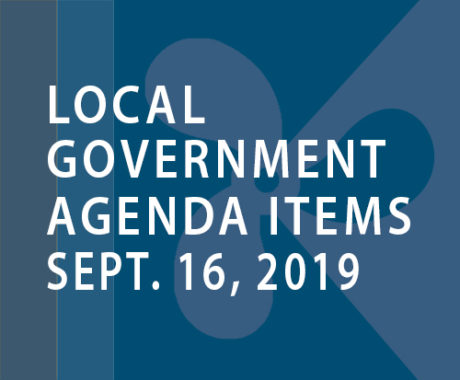 SWFMIA local government agenda items for the week of September 16, 2019